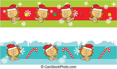 lion claus cartoon banner