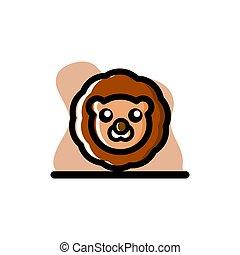 Lion Conceptual Vector Illustration Design Icon