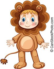 Lion costume - Cute child in lion costume