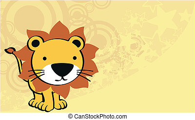 lion cute baby cartoon background in vector format