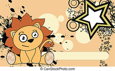 lion cute cartoon baby wallpaper