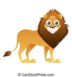 Lion cute cartoon character