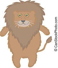 lion cute vector