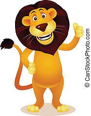 lion, dessin animé