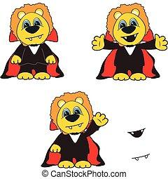 lion dracula cartoon