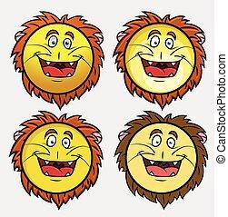 Lion Emoji Character Vector
