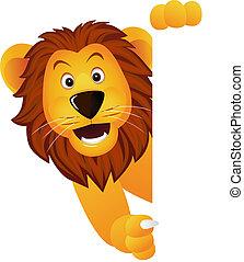 lion, et, bannière