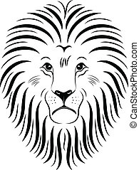Lion Face 01 - Illustration of lion face