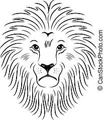 Lion Face 03