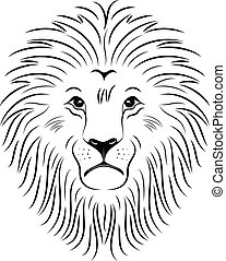 Lion Face 03 - Illustration of lion face