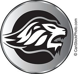 Lion face aggressive logo