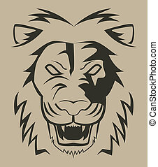 lion face illustration