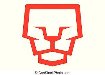 lion face logo dsign