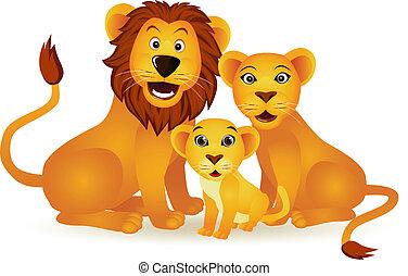 lion, famille