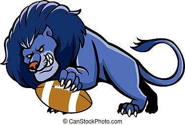Lion Football Mascot