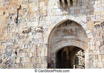 Lion Gate, Old City Wall, Jerusalem, Israel