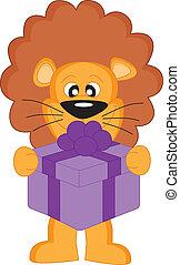 lion, gift.