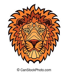 Lion head color mascot