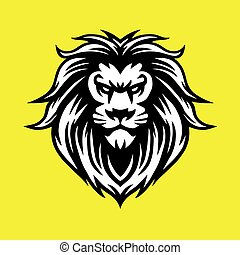 Lion Head Cool Logo Vector Esport Mascot Illustration