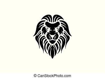 lion head design vector