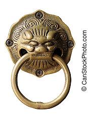 Lion head door handle