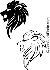 Lion head - Isolated lion head as a symbol or sign