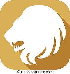 lion head flat icon