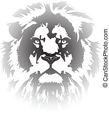 lion head gradient tattoo in my interpretation inspired from...