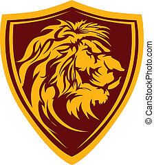 Lion Head Graphic Mascot Illustrati