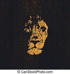 Lion head . Hand drawn. Vector eps8