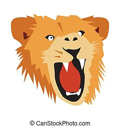 Lion head icon, Vector Illustration on white background
