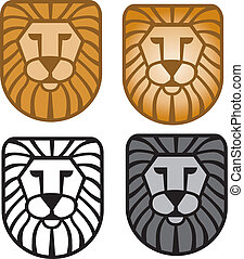 Lion Head - Illustrator 8. Vector art