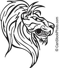 Lion head - Simple lion head design. Vinyl-ready EPS...