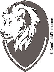 Lion head in vector interpretation - lion head in my...