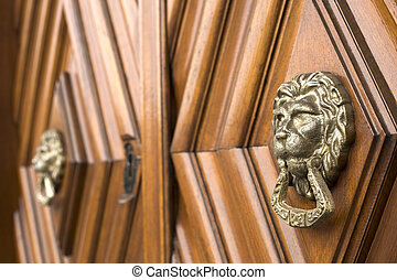 Lion head knockers