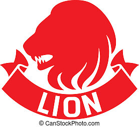 lion head label
