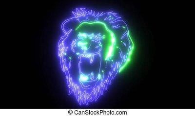Lion Head laser animation video - Lion Head Graphic digital...