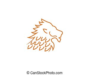 Lion head line vector illustration