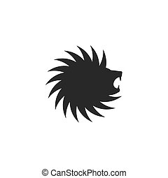 Lion head logo circle shape, tattoo great design for any...