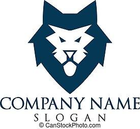 Lion head logo design.