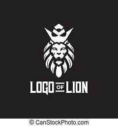 Lion head logo design template