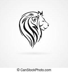 Lion head, logo design template
