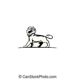 Lion Head Logo Design Vector,