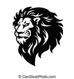 Lion Head Logo Mascot Vector Illustration Design