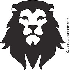 Lion head logo template. Animal wild cat face graphic sign. Pride, strong, power concept symbol