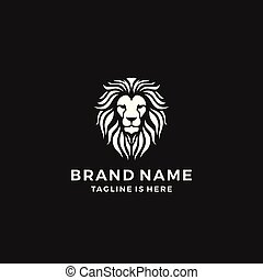 lion head logo template vector icon