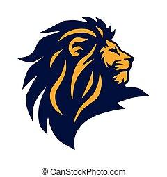 Lion Head Logo Vector Icon Mascot Design