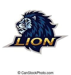 Lion Head Logo Vector Illustration
