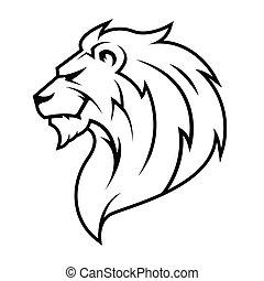 Lion Head Logo Vector.