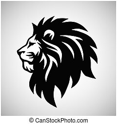 Lion Head Logo Vector Mascot Icon Design